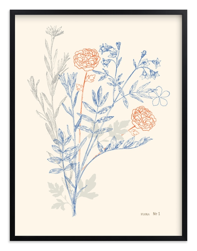 """flora number one"" - Limited Edition Art Print by leslie hamer in beautiful frame options and a variety of sizes."