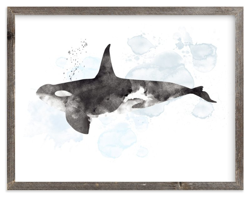 """Whale Series Three"" - Limited Edition Art Print by Shirley Lin Schneider in beautiful frame options and a variety of sizes."