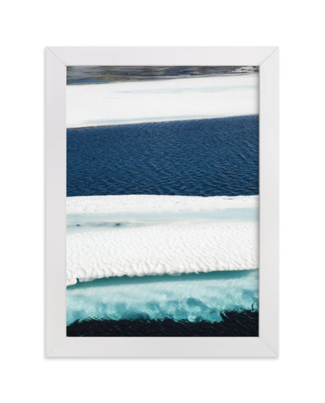 """Brush in turquoise"" - Limited Edition Art Print by van tsao in beautiful frame options and a variety of sizes."