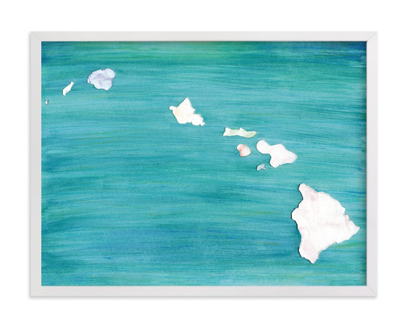 """Hawaii in Paint"" - Limited Edition Art Print by Denise Wong in beautiful frame options and a variety of sizes."