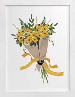 Maryland Blackeyed Susan Bouquet Art Print