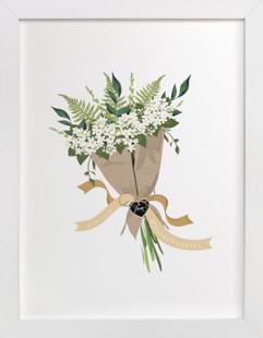 Massachusetts Mayflower Bouquet Art Print