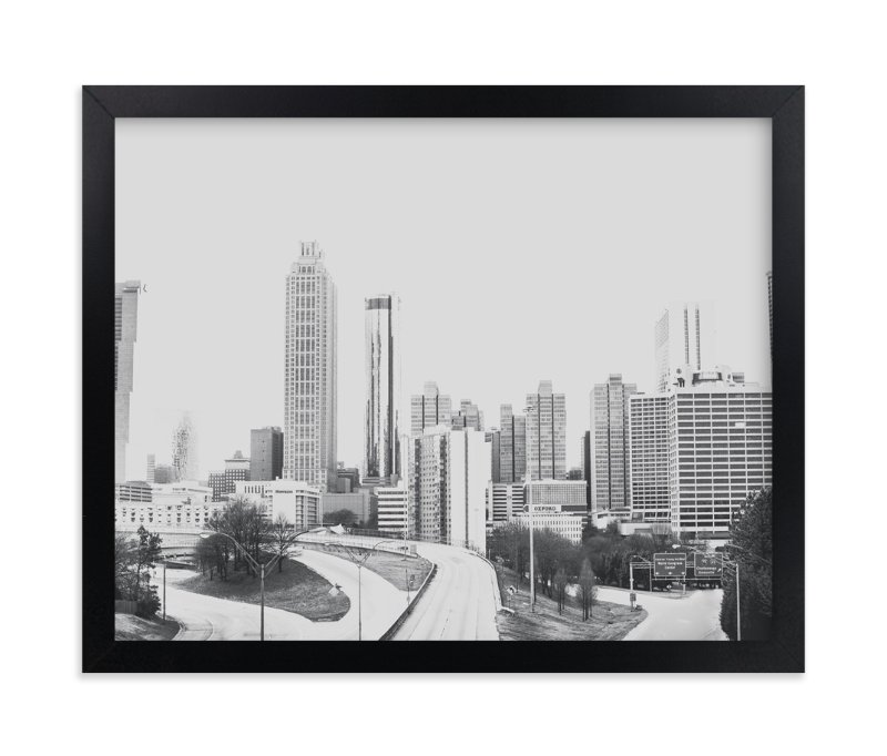 """""""The City in Black and White"""" - Limited Edition Art Print by Melinda Denison in beautiful frame options and a variety of sizes."""