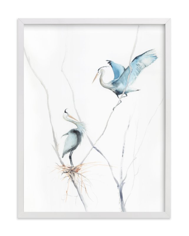 """""""heron's nest"""" - Limited Edition Art Print by Annie Moran in beautiful frame options and a variety of sizes."""