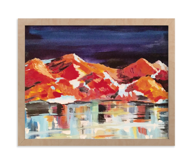 """""""Midnight Mountains"""" - Limited Edition Art Print by Holly Royval in beautiful frame options and a variety of sizes."""