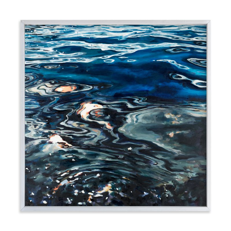 """""""Silver Sea"""" - Limited Edition Art Print by Kelly Johnston in beautiful frame options and a variety of sizes."""