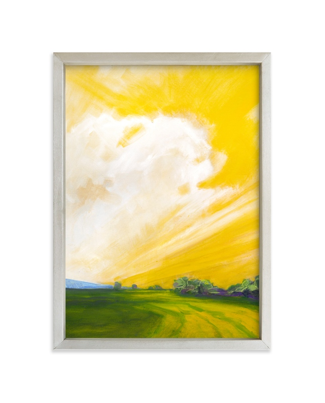 """Western Dawn"" - Limited Edition Art Print by Stephanie Goos Johnson in beautiful frame options and a variety of sizes."