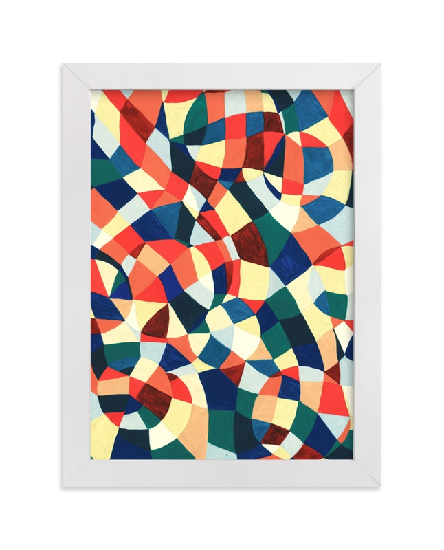 """""""Spanish Mosaic Abstract"""" - Limited Edition Art Print by Pooja Pittie in beautiful frame options and a variety of sizes."""