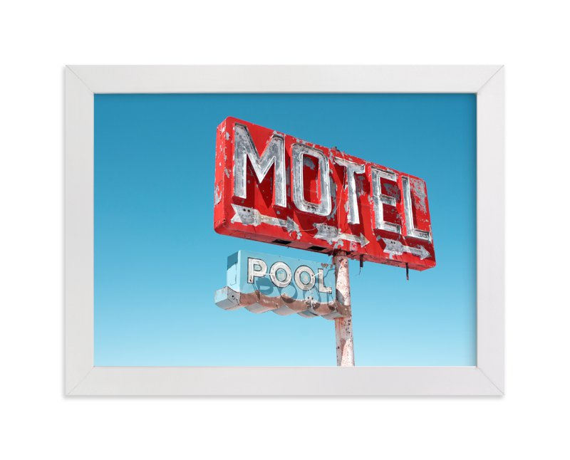 """Hotels & Motels"" - Limited Edition Art Print by Calais A Le Coq in beautiful frame options and a variety of sizes."