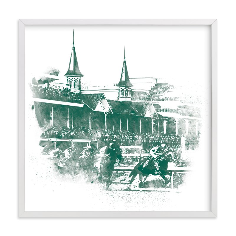 """Churchill Downs"" - Limited Edition Art Print by Paul Berthelot in beautiful frame options and a variety of sizes."