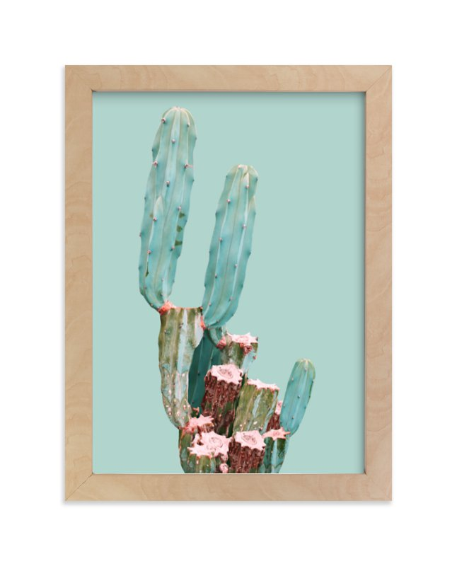 """Cactus Garden"" - Limited Edition Art Print by Baumbirdy in beautiful frame options and a variety of sizes."