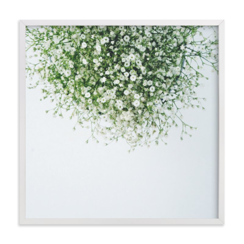 This is a white art by Marabou Design called Gypsophila with standard.