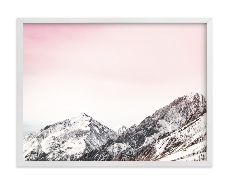 This is a white art by Korry Brown called Wanderlust Sunset.