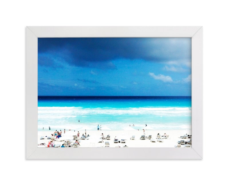 """Cancun"" - Limited Edition Art Print by Alison Jerry Designs in beautiful frame options and a variety of sizes."