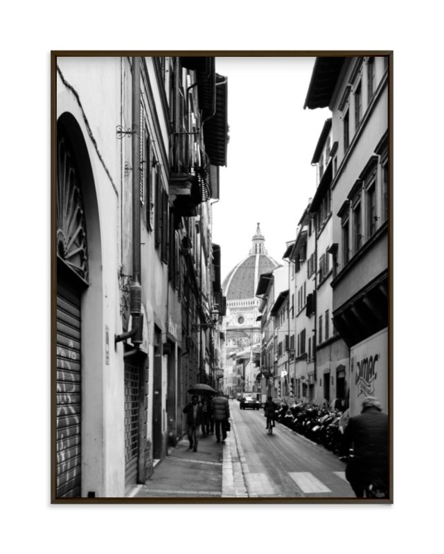 """""""Peeking Through No. 4 Il Duomo di Firenze"""" - Limited Edition Art Print by Joey Crisostomo-Wynne in beautiful frame options and a variety of sizes."""