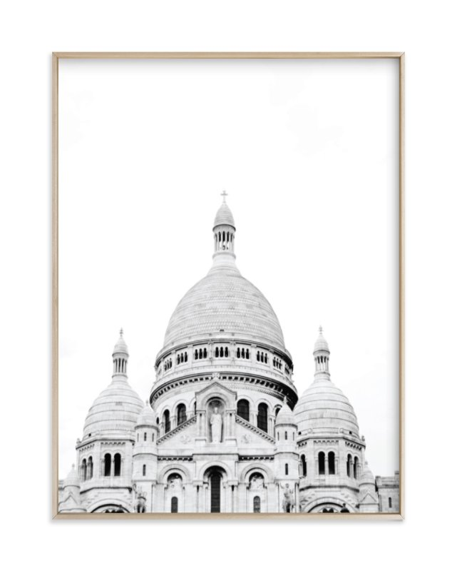 """""""Looking Over Montmartre"""" - Limited Edition Art Print by Wildfield Paper Co. in beautiful frame options and a variety of sizes."""