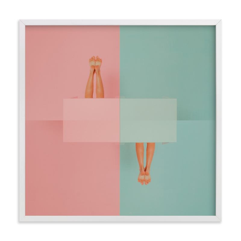 diving into tables Art Print