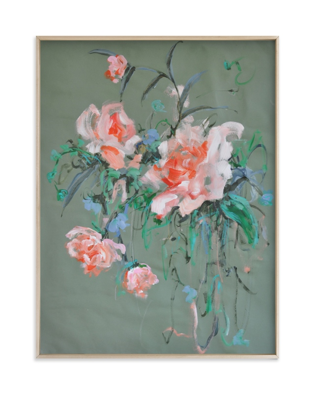 Arrangement in Rose & Teal Art Print