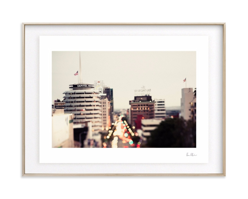 Capitol Records at dusk Art Print