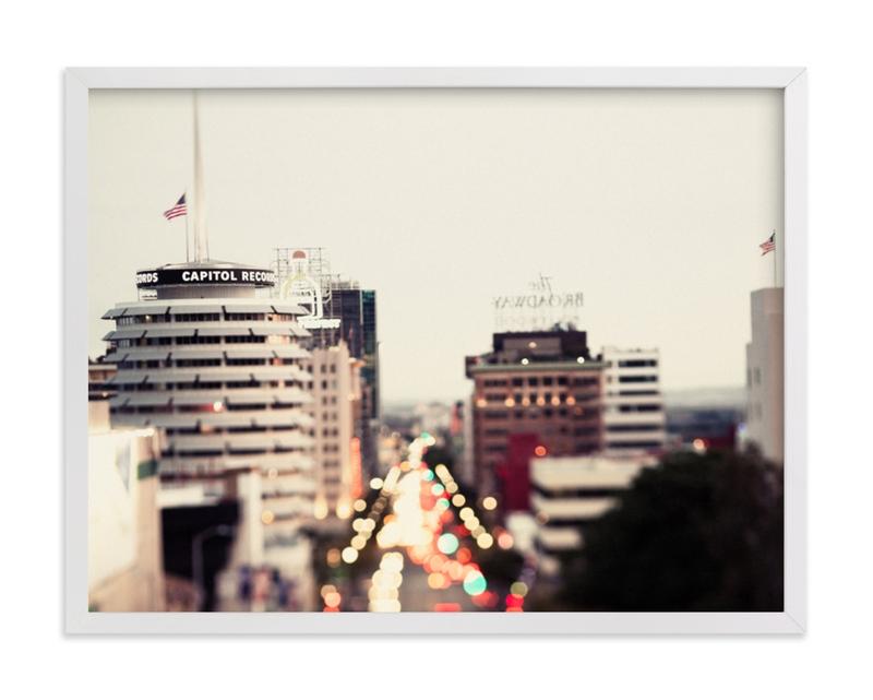 Capitol Records at dusk Art Print