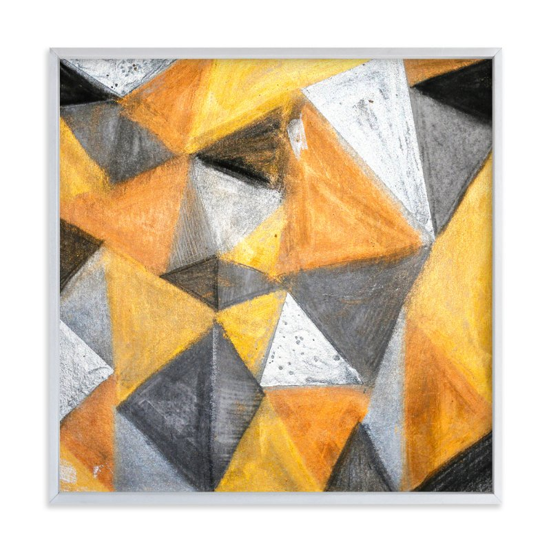 """""""Gold and Diamonds"""" - Limited Edition Art Print by Jennifer Matlock in beautiful frame options and a variety of sizes."""