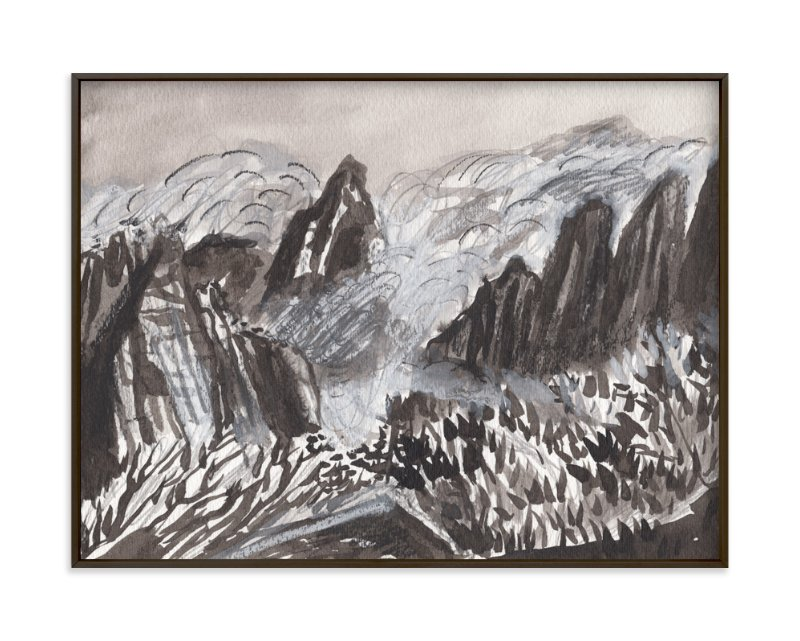 """""""Huangshan Mountains"""" - Limited Edition Art Print by June Chang in beautiful frame options and a variety of sizes."""
