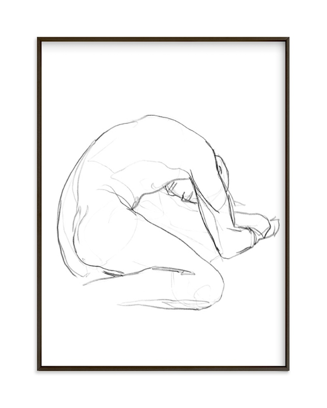 """""""Seated Figure"""" - Limited Edition Art Print by Lorent and Leif in beautiful frame options and a variety of sizes."""