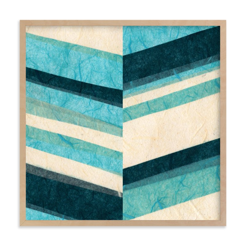 """""""Paper Chevron"""" - Limited Edition Art Print by Kelly Nasuta in beautiful frame options and a variety of sizes."""