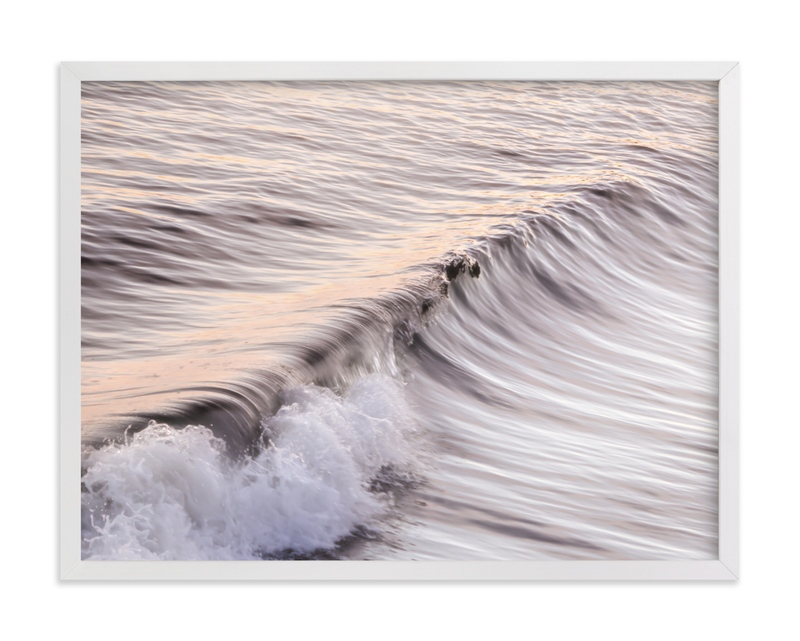This is a purple art by Lisa Sundin called Cayucos Soft Waves .