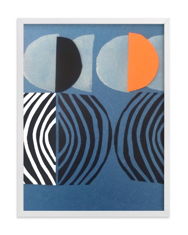 """""""Solar Eclipse"""" - Limited Edition Art Print by Deborah Velasquez in beautiful frame options and a variety of sizes."""