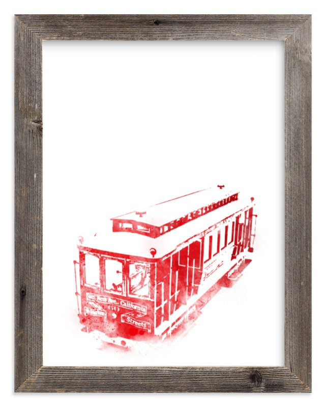 """""""Hop On!"""" - Limited Edition Art Print by Paul Berthelot in beautiful frame options and a variety of sizes."""