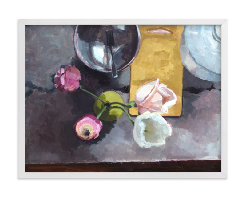 This is a colorful art by Caitlin Winner called Kitchen Still Life.