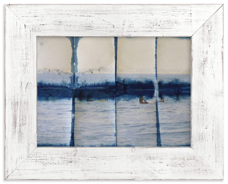 """Waiting in Indigo"" - Limited Edition Art Print by Annie Seaton in beautiful frame options and a variety of sizes."