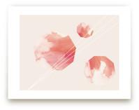 Watercolor Nonagons by Melinda Denison