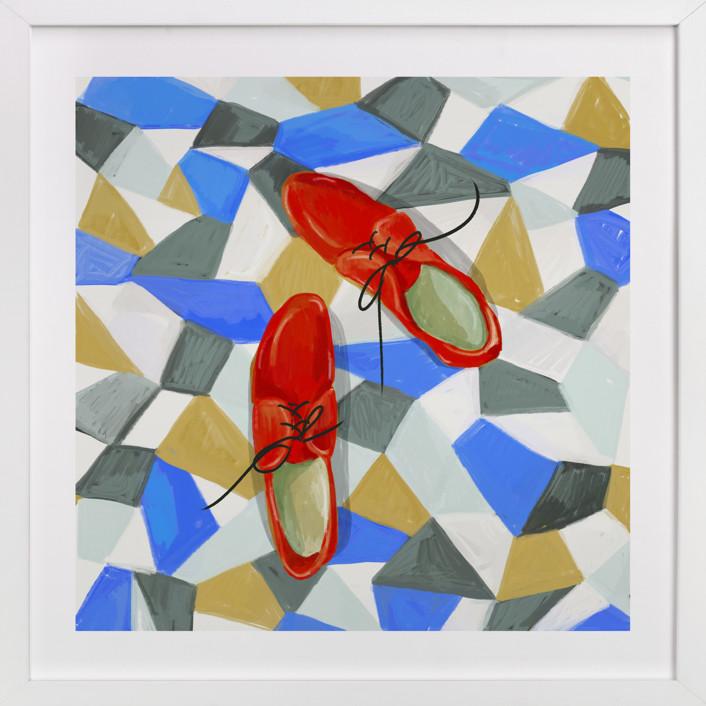 Shoes on tile Art Print