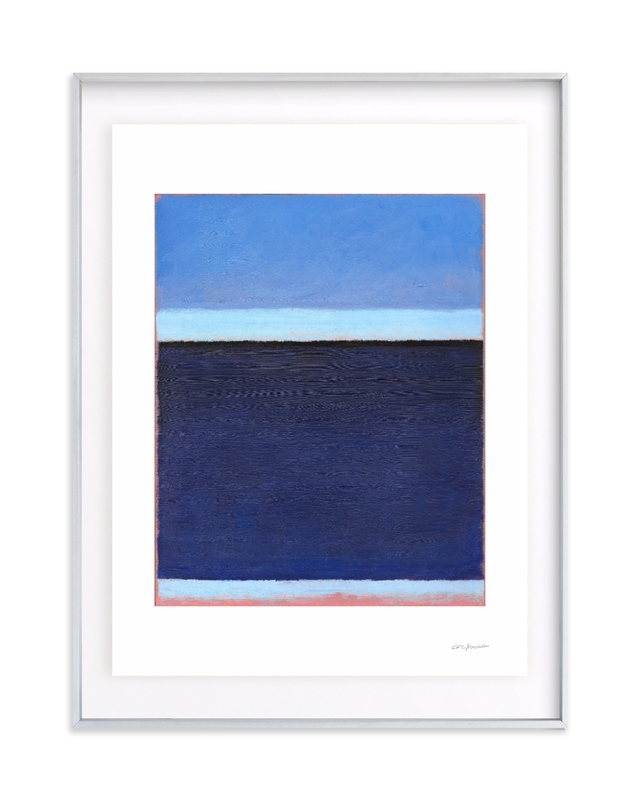 Deep Blue Bay Art Print