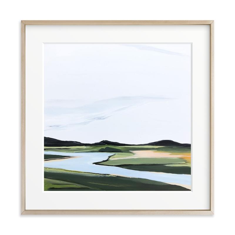 County Road River Bank Art Print