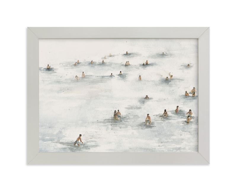 """on the beach"" - Limited Edition Art Print by Lulaloo in beautiful frame options and a variety of sizes."