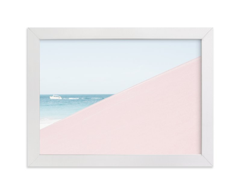 """Pink Umbrella"" - Limited Edition Art Print by Kira Noel Oschipok in beautiful frame options and a variety of sizes."