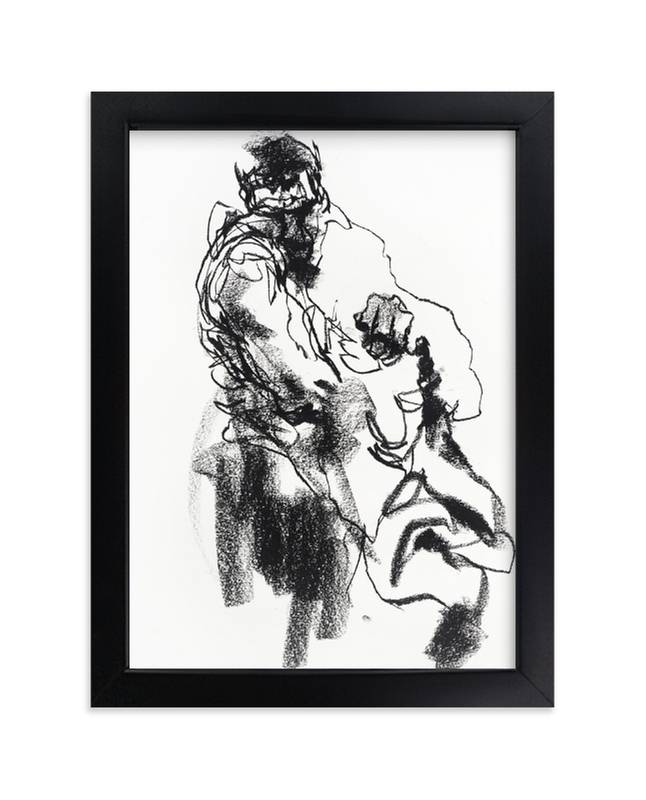"""""""Drawing 469 - Draped Figure"""" - Limited Edition Art Print by Derek overfield in beautiful frame options and a variety of sizes."""