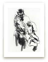 Drawing 469 - Draped Figure