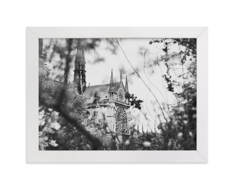 """""""Looking Through to the Notre Dame"""" - Limited Edition Art Print by Wildfield Paper Co. in beautiful frame options and a variety of sizes."""