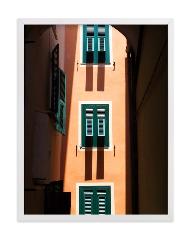 This is a orange art by Paul Berthelot called Shutters.
