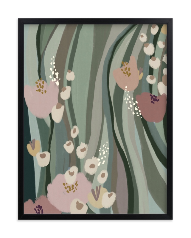 """""""Riverside Flowers"""" - Limited Edition Art Print by Grae in beautiful frame options and a variety of sizes."""