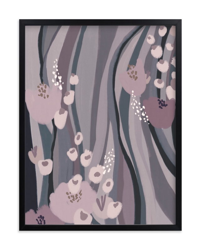 """""""Riverside Flowers"""" - Limited Edition Art Print by Grae Sales in beautiful frame options and a variety of sizes."""