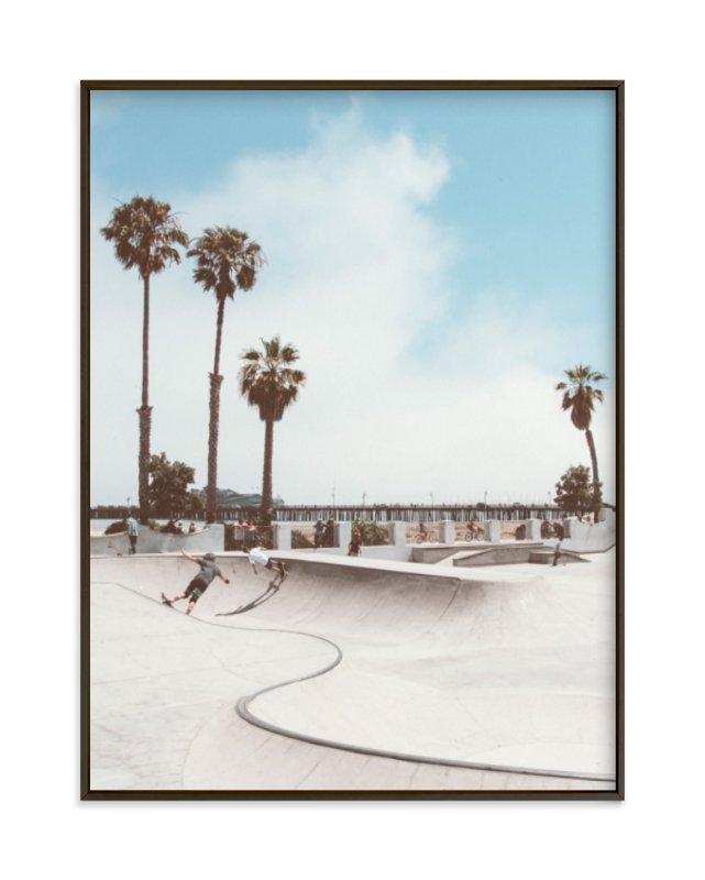 Santa Barbara Skate 2 Art Print