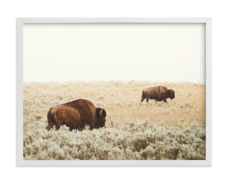This is a brown art by Kamala Nahas called Bison.