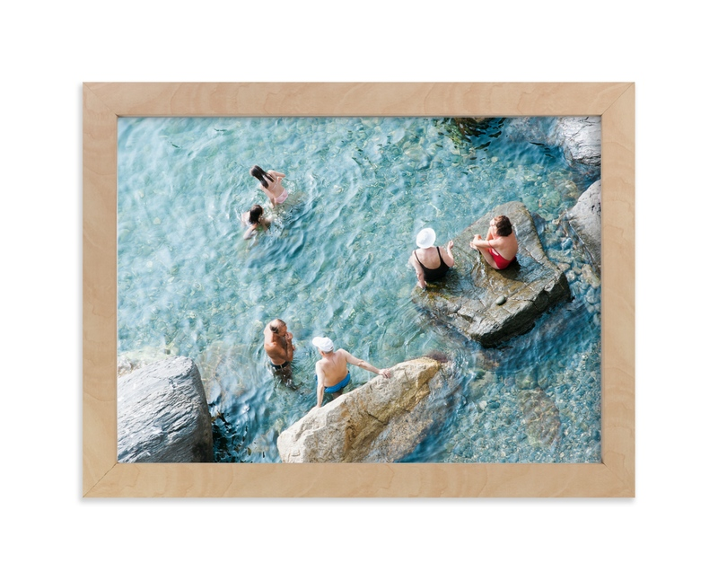 """""""Sunbathers"""" - Limited Edition Art Print by Jennifer Jacobson in beautiful frame options and a variety of sizes."""