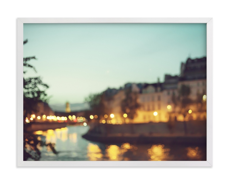 This is a colorful art by Caroline Mint called By the Seine.