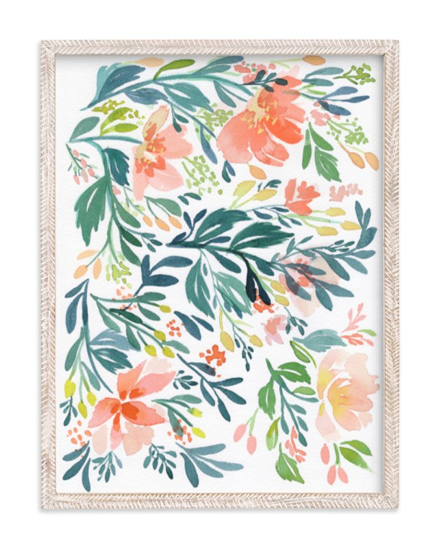 """""""Dancing Peonies"""" - Limited Edition Art Print by Natalie Malan in beautiful frame options and a variety of sizes."""